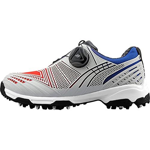 WUDAXIAN Golfschuhe für Kinder, wasserdichte Golfschuhe für Jungen und Mädchen, Sportschuhe mit rotierenden Schnürsenkeln, rutschfeste Jugend-Turnschuhe für den Golfsport