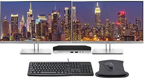 HP ProDesk 400 G5 Desktop Mini PC Bundle with Dual...