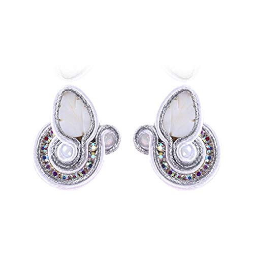 AIERSHI Fashion Handmade Soutache Earring Ethnic Style Party Jewelry Female Crystal Decoration Earring