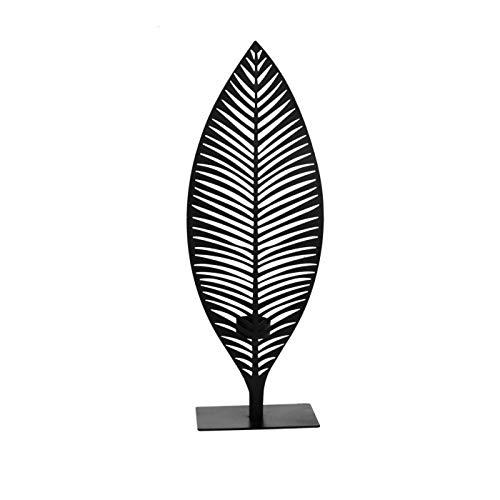 TABLE PASSION - Photophore Palmier Noir Grand modèle