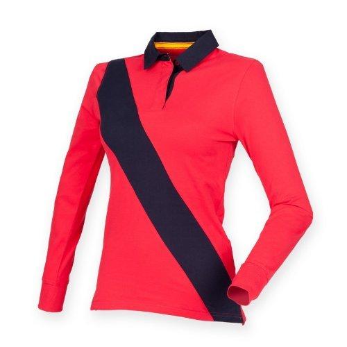 Makz Front Row femmes maison de Diagonal Stripe Rugby Polo pour Homme - Multicolore - Medium