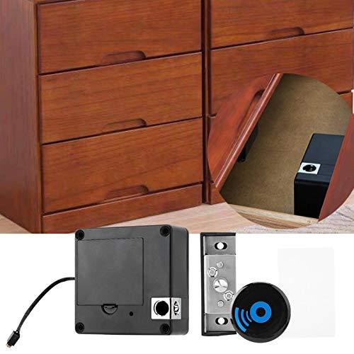 Cerradura de inducción Cerradura de cajón Seguridad Cómoda cerradura de gabinete Cerradura de tarjeta Antirrobo negro para el hogar para la oficina para apartamentos