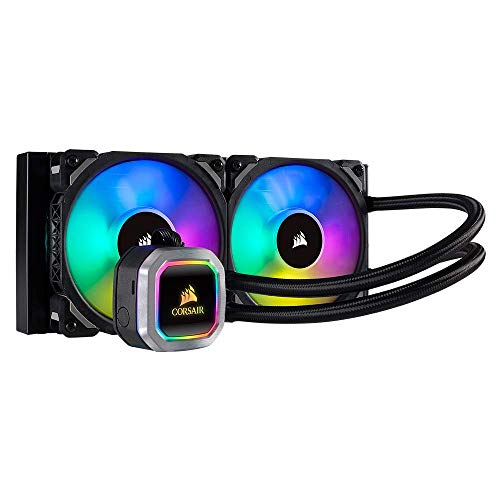 Corsair H100i RGB PLATINUM AIO Liquid CPU Cooler,240mm,Dual ML120 PRO RGB PWM Fans,Intel 115x/2066,AMD AM4/TR4
