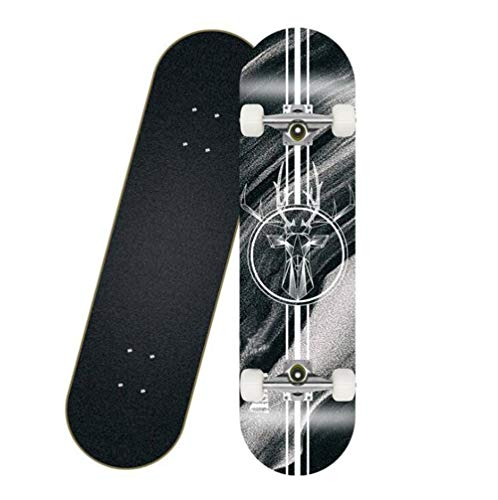 Check Out This JSZMD Complete Skateboard, Entry-Level Street Skateboard for Extreme Sports and Outdoor Activities, Bearing 90kg