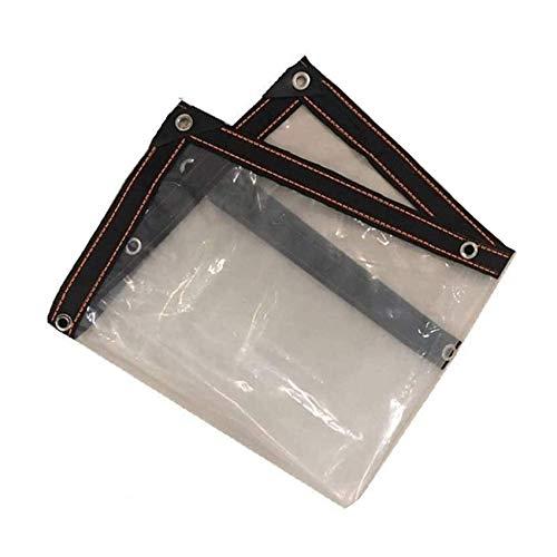 1 x 2m Lona transparente con cuerda, Lona impermeable Lona transparente con ojales, Plegable, Ideal para toldo de plantas de jardín Balcón Carpa Barco(Size:4x5M)