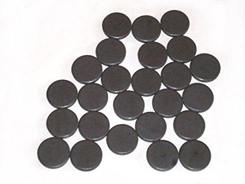 Lot de 25 aimants ronds – DM 20 mm x 3 mm pour bricoler, Do It Yourself, DIY, plat Aimants pour werkeln et décorer, Accessoires de bricolage magnétique, magnétique, aimants en ferrite