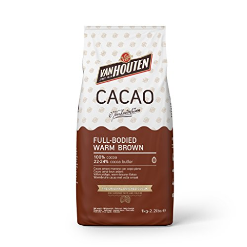 Van Houten Cacao en Polvo Marrón Cálido Bolsa, 1kg