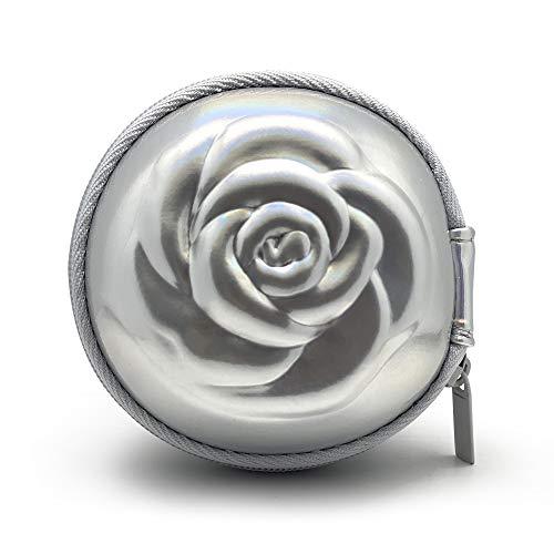 Sileu Case - Estuche para copas menstruales - Ideal para llevar tu tampón o copa menstrual de forma elegante y discreta en tu bolso o para viajes - Pequeño, 8 cm - Plateado Holográfico