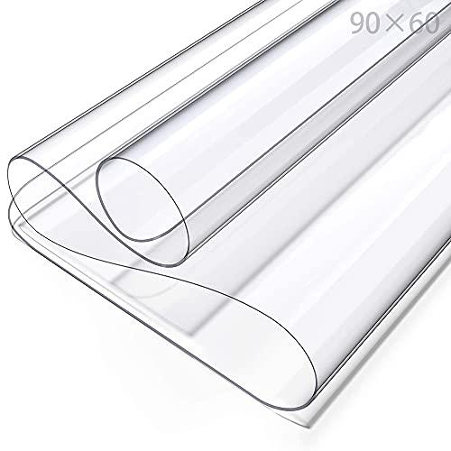 PVC Tischdecke Transparent,Tischfolie Schutzfolie,Schutztischdecke,Tischschutzfolie,Durchsichtig Schutztischdecke,Tischschutz,Glasklar Folie,PVC Folie Schutzfolie(Transparent/60cmX90cm)