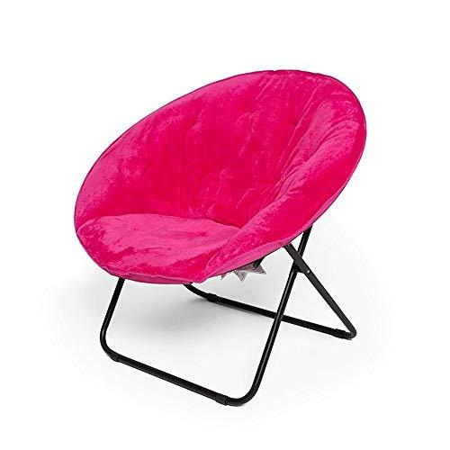 WALNUT Moon Chair Sofa, Frame Breite Sitz Faltbare Stahl for Seminare Lese Fernsehen oder Elegantes Design Spiel (Color : B)