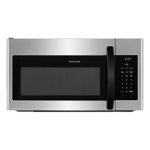 Frigidaire FFMV1645TH 30' Over the Range Microwave with 1.6 cu. ft. Capacity, LED Lighting, Multi-Stage Cooking Option, in Stainless Steel with Black Handle