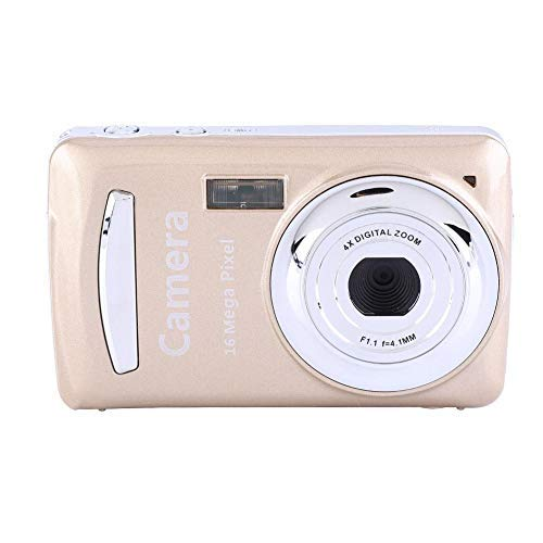 "Tonysa Pantalla LCD de 2.4""Cámara Digital ultradelgada HD 16MP 720P 30FPS Zoom 4X, Mini cámara para Exteriores Interfaz de visión Nocturna Cámara Digital USB2.0 Cámara Video(Oregón)"