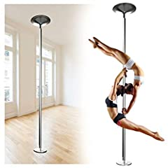 💃🏻【High quality material 】The dancing pole is made of 45mm chrome plated steel tube, high quality and durable; The surface is non-slip, so it's safe for users to use and you can exercise every day. 💃🏻【Rotation and fixed modes】The dance pole can rotat...