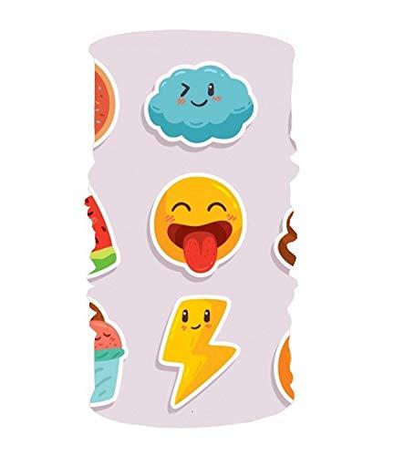 dingjiakemao Stylish Fun Pack Smiley Stickers UV Headband Quick Dry Ultra Soft Elastic Handscarf Microfiber Headwear Outdoor Bandana Magic Scarf Face Mask Unisex
