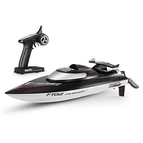 Anniston Kids Toys, Feilun FT012 45km/h High Speed RC Remote Control Racing Boat Ship Model Toy Remote Control Toys Perfect Fun Time Play Activity Gift for Boys Girls,US Plug