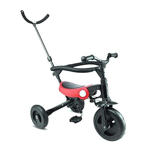 GYF Andar en Triciclo 1-6 años de Edad, Hombres y Mujeres de la Silla de Paseo Plegable Barra de protección con los Juguetes de un Triciclo for niños de Cuatro Triciclo tranvía al Aire Libre