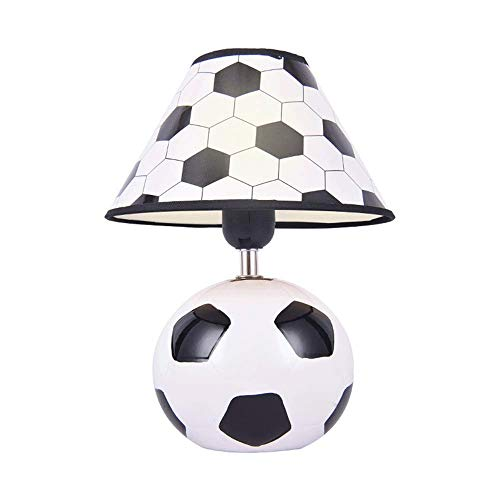 Lámpara de Mesa de Iluminación Decorativa Interior Lámpara de noche pequeña, creativo Fútbol Sun lámpara de mesa, Protección de los ojos de iluminación, productos cerámicos, conveniente for el dormito