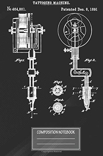 Notebook: Inking Machine Drawing Vintage Tattoo Artist Gun , Journal for Writing, Size 6