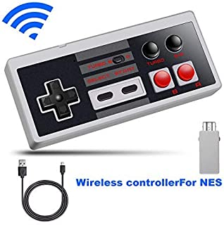 NES Classic Wireless Controller, WISSBLUE Wireless Controller Console Gamepad for Nintendo NES Classic Mini Edition Gaming System with 2.4G Wireless Receiver …