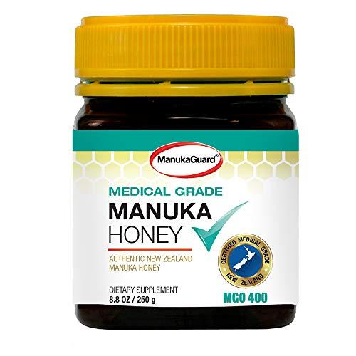 ManukaGuard Medical Grade Manuka Honey MGO 400+ | 100% Authentic New Zealand Manuka Honey | Healing Honey for Immunity Boost | 8.8 oz
