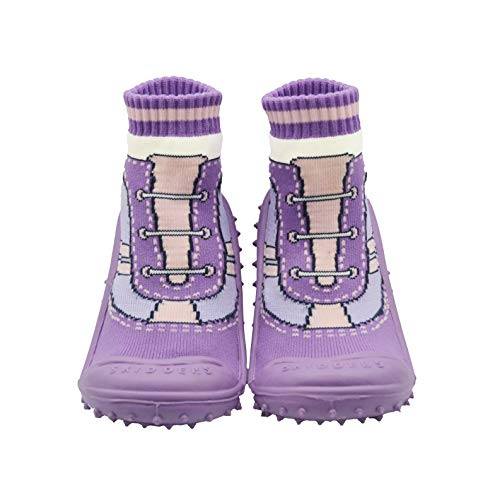 SKIDDERS Baby Toddler Girls Shoes XY4447 (6) 18 Months Purple