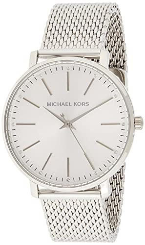 Michael Kors Damen Analog Quarz Uhr mit Edelstahl Armband MK4338