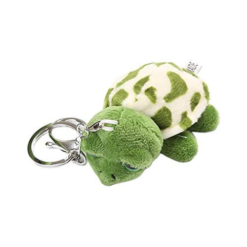Niumanery Adult Kids Cartoon Plush Tortoise Turtles Headband Hair Tie Brooch Clip Keychain 4#