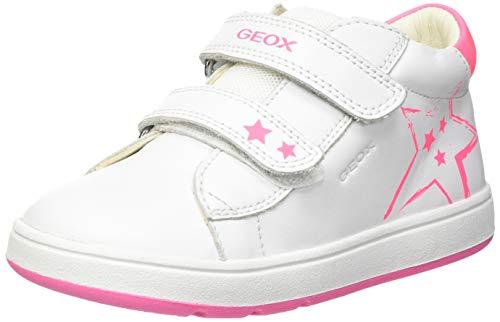 Geox B BIGLIA Girl C, Sneaker Bimba 0-24, White/Fluo Fuchsia, 23 EU