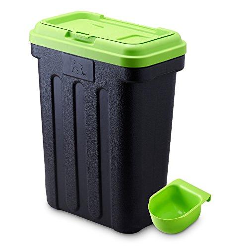 Maelson Dry Box - schwarz / grün - Vorratsbehälter für Trockenfutter, 15 kg