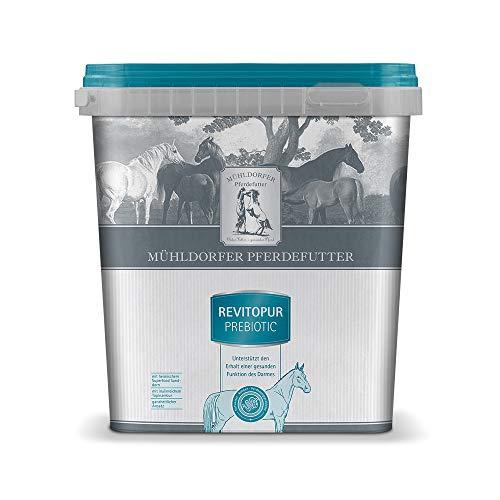 Mühldorfer Pferdefutter Revitopur prebiotic, 3 kg, ganzheitliche Unterstützung bei Koliken und Kotwasser, normalisiert die Darmflora, getreidefrei, mit Superfood Sanddorn