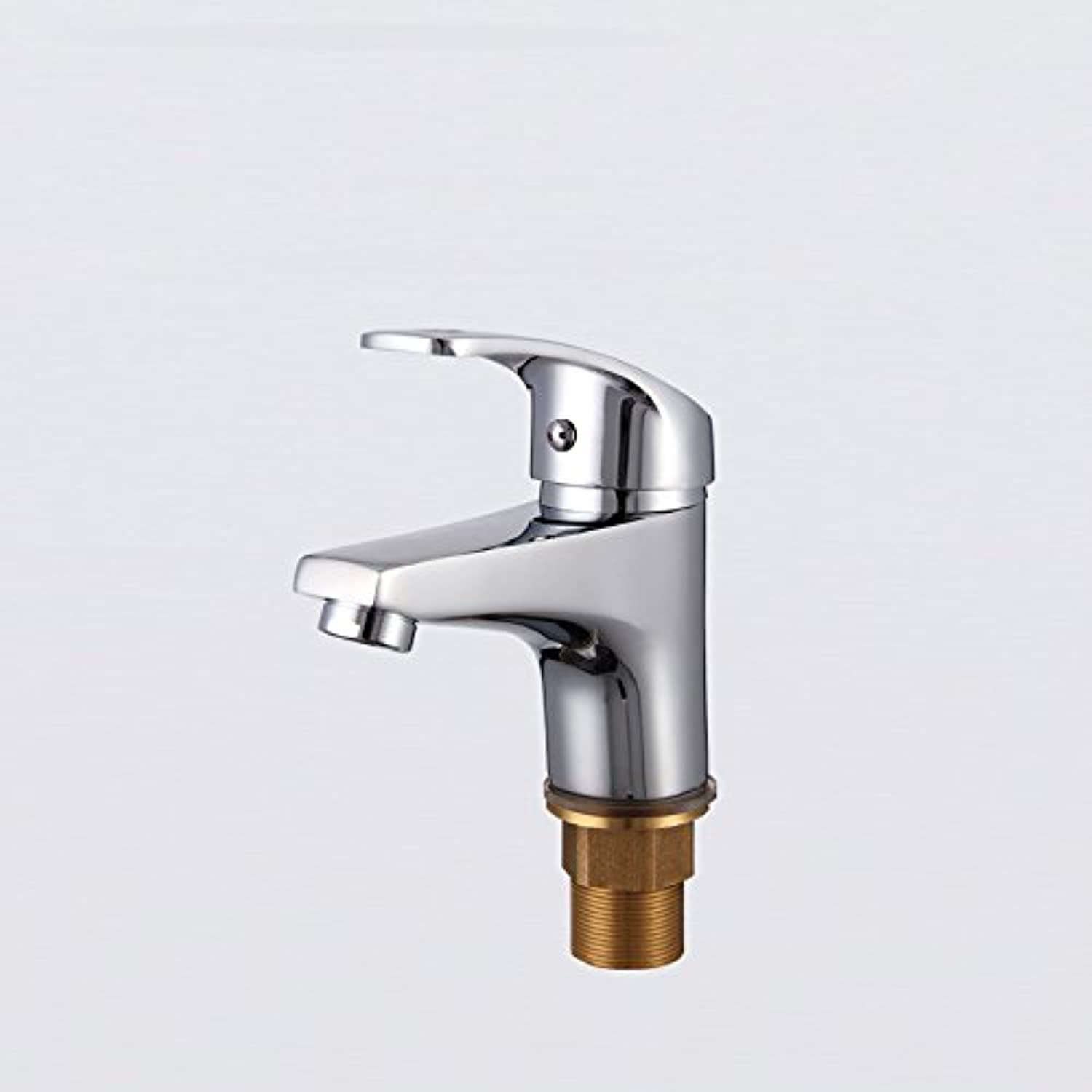Hlluya Professional Sink Mixer Tap Kitchen Faucet Basin cold water tap full copper ttl basin cold water tap air Single Hole