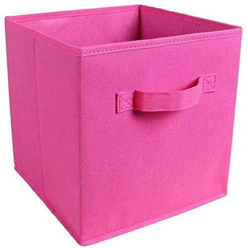Mdsfe nieuwe vliesstof-opbergbox speelgoed-organizer kledingkast voor ondergoed BH-sokken met handvat borst - 27 x 27 x 28 cm