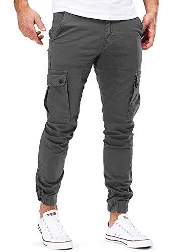Jiatwhfhsa Pantalones De Chándal Casuales para Hombre Pantalones De Chándal Deportivos De Entrenamiento Slim Fit con Pantalones con Cordón (Dark Gray, XL)