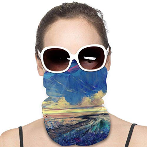 Boy Bicycle Trip Graffiti Watercolor Headwear Neck Gaiter Headwrap Mask Balaclava Helmet Liner Scarf Sports Casual For Men Women Customized