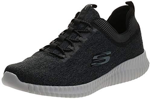 Skechers Elite Flex-Hartnell, Zapatillas Hombre, Negro (BKGY Black Mesh Trim), 42 EU