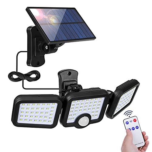 Focos Led Exterior Solares, Elfeland lucessolares 108LedExteriorJardin Con Sensor de Movimiento Con...