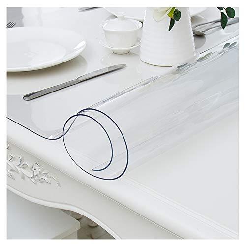 NNHDWS Przezroczysty obrus, przezroczysty ochraniacz na stół, obrus z PCW, wodoodporny winylowy ochraniacz na stolik kawowy, biurko komputerowe, stół w jadalni, 80 * 150 cm