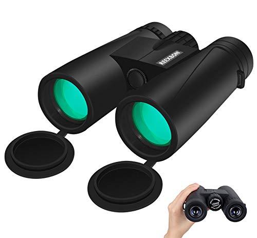 Fernglas Erwachsene 10x42 Ferngläser REEXBON Binoculars Feldstecher Robust Wasserdicht für Vogelbeobachtung, Wandern, Jagd, Safari Geräte, Reisen mit Tasche und Gurt