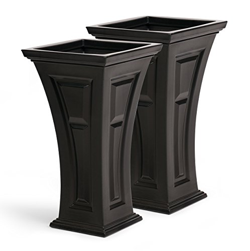 FCMP Outdoor HP-Bk Heritage (2 Pack) Planter, Black