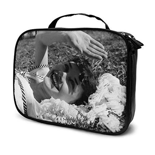 Audrey Hepburn Beauty Case Make-up-Tasche, bedruckt, Beauty-Reisetasche, Kosmetik-Organizer, Make-up, Kulturbeutel, Organizer, Geldbörse, Handtasche mit Griff, wasserdichte Kosmetiktasche