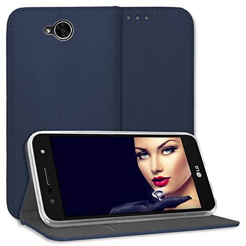 mtb more energy® Schutz-Tasche Bookstyle für LG X Power 2 (M320N, 5.5'') - blau - Kunstleder - Klapp-Cover Hülle Hülle
