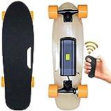 YLLN Mini monopatín eléctrico Longboard eléctrico, monopatín eléctrico completo, tres modos de velocidad, portátil, para viajeros, con ruedas eléctricas para adultos, principiantes y viajeros urbanos,