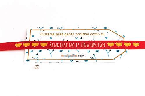 Pulseras de tela con frases molonas: RENDIRSE NO ES UNA OPCIÓN | Regalo original