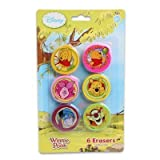1 piece of 6ct DISNEY WINNIE THE POOH ERASERS by Mighty Gadget