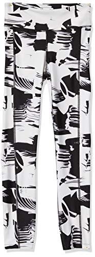 Women's HeatGear Armour Ankle Printed Capri Leggings (Black / Metallic Silver) $15 + FS w/ Prime