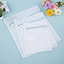 Laundry Bags for Washing Machine Clothes Storage Net Zip Bag for Wash Bra Stocking and Underwear (Color : L)