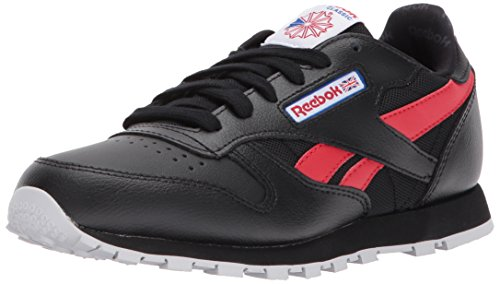 Reebok Baby CL Leather SO Sneaker, Black/Primal RED/Vital BL, 3.5 Child US Toddler
