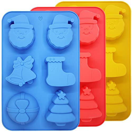 SourceTon 3 paquetes moldes silicona hornear Navidad