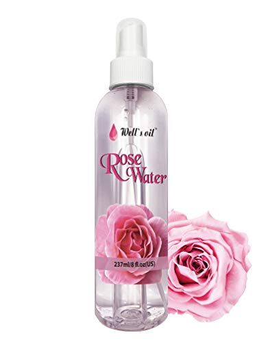 Well's 100% Pure Rose Water 8oz / Anti-Inflammatory / Anti-Acne / Anti-Eczema