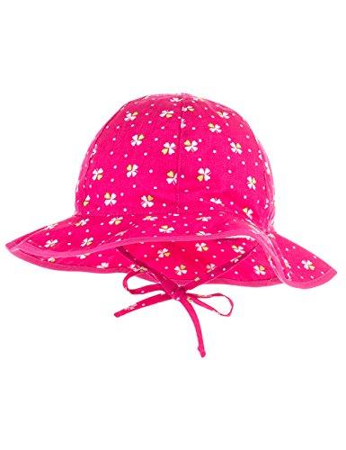 maximo maximo Baby-Mädchen Flapper, Bindeband Mütze, Mehrfarbig (Pink-Kleeblatt 16), 45